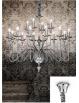 Artu lampadario 16 bracci nickel lucido decorativi cristallo