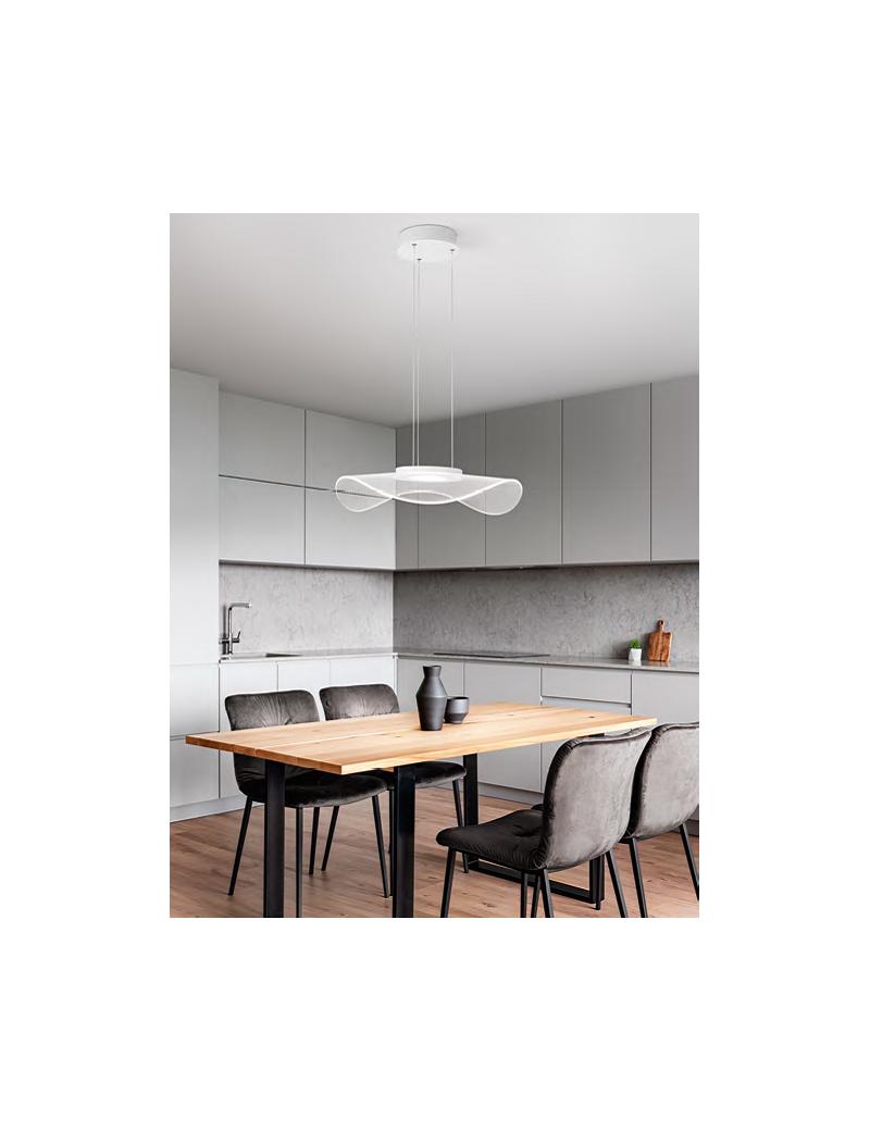 Perenz Medusa Lampadario Moderno 30w Luce Calda Bianco O50 Cucina Misterlight It