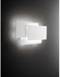 Dip applique design rettangolare LED 36w metallo bianco luce calda
