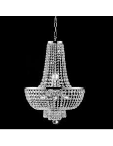 BONETTI ILLUMINA: Mozart lampadario cromo cristalli k9 e stass a catenalla Ø50 in offerta