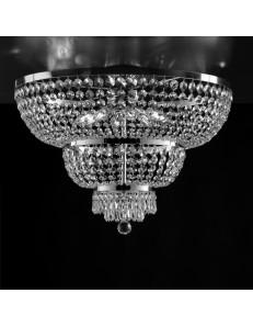 BONETTI ILLUMINA: Mozart plafoniera cromo strass e cristalli k9 Ø65 in offerta