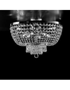 BONETTI ILLUMINA: Mozart plafoniera cromo strass e cristalli k9 per camera da letto in offerta