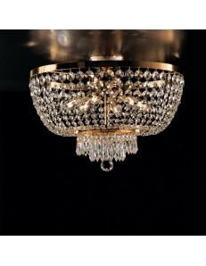 BONETTI ILLUMINA: Mozart plafoniera dorata strass e cristalli k9 per camera da letto in offerta