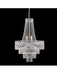BONETTI ILLUMINA: Regina lampadario bianco shabby chic con cristalli in offerta