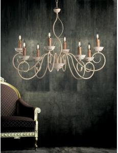 BONETTI ILLUMINA: Maiori lampadario da soggiorno in ferro battuto avorio in offerta