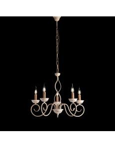 BONETTI ILLUMINA: Maiori lampadario da camera in ferro battuto avorio in offerta