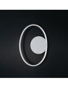 Ponza applique ellittica led moderna 20watt bianca