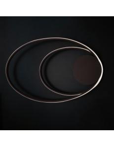 Nettuno plafoniera led 50w design moderno coffee ellittica