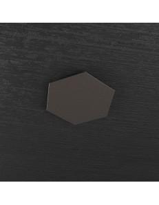 Hexagon elemento decorativo plafoniera componibile marrone 25x29cm