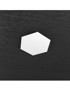 Hexagon elemento decorativo plafoniera componibile bianco 25x29cm