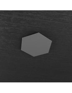 Hexagon elemento decorativo plafoniera componibile antracite 25x29cm