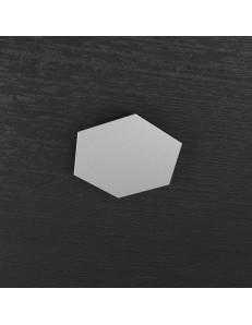 Hexagon elemento decorativo plafoniera componibile grigio 25x29cm