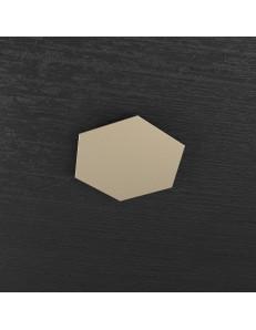 Hexagon elemento decorativo plafoniera componibile sabbia 25x29cm