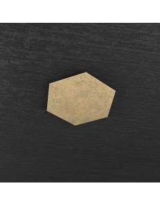 Hexagon elemento decorativo plafoniera componibile oro25x29cm