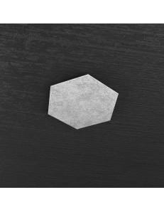 Hexagon elemento decorativo plafoniera componibile argento 25x29cm