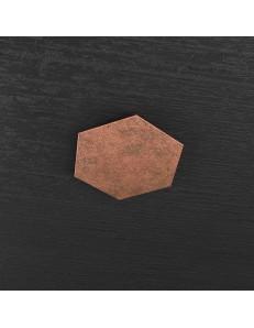 Hexagon elemento decorativo plafoniera componibile rame 25x29cm
