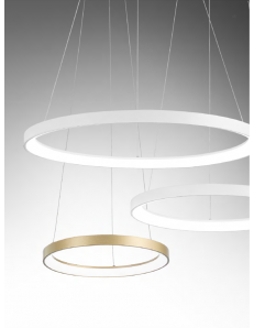 GEA LUCE: KRIZIA sospensione oro media Ø58 led dimmerabile 50watt luce calda Gea luce in offerta