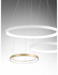 GEA LUCE: KRIZIA sospensione grande oro Ø78 led dimmerabile 60watt luce calda Gea luce in offerta