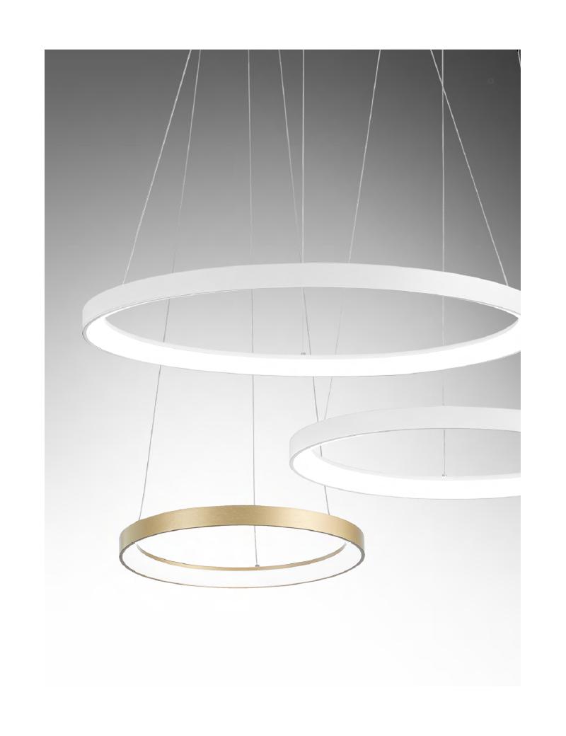 GEA LUCE: KRIZIA sospensione grande bianco Ø78 led dimmerabile 60watt luce calda Gea luce in offerta