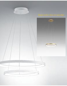 GEA LUCE: KRIZIA sospensione doppio anello Ø58 led dimmerabile 88watt oro Gea luce in offerta