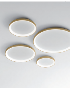 GEA LUCE: KRIZIA plafoniera led dimmerabile extra slim vari diametri colore oro Gea luce in offerta