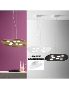 Irene lampadario biemissione GX53 led asimmetrico vari colori