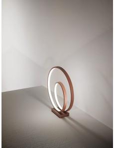 Ritmo abat jour LED moderna 28w cannella anelli