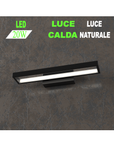 Four squares applique nera piccola led 20w 3000k 4000k