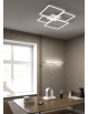 Four squares applique nera lampada led 40w luce calda e naturale