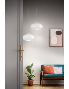 Cesira bianco lampadario moderno vetro circolare camera soggiorno design