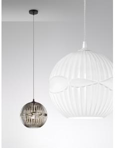 Cesira lampadario moderno vetro bianco sfera camera soggiorno design