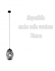 Cesira lampadario moderno vetro bianco o fume conico cucina soggiorno design