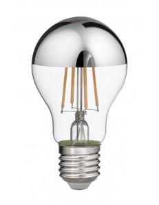 Lampadina LED 8w E27 calda vetro specchiato argento 1000 lumen