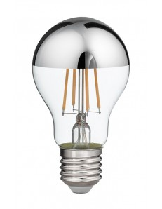 Lampadina LED 8w 3000k vetro specchiato argento 1000 lumen