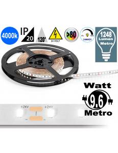 Stricia LED 9.6w 4000k bobina dimmerabile IP20 adesiva flessibile 140 led metro