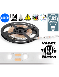 Stricia LED 14.4w 4000k bobina dimmerabile IP20 adesiva flessibile 70 led metro