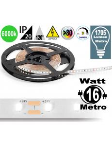 Stricia LED 16w 6000k bobina dimmerabile IP20 adesiva flessibile 60 led metro