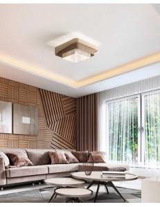 Camargue plafoniera moderna quadrata tessuto sfumature beige