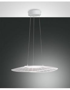 Vela lampadario LED 24w dimmerabile bianco e trasparente