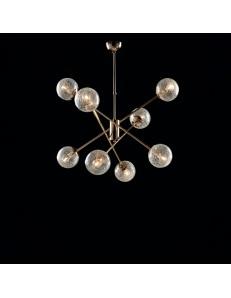 Tresor lampadario soggiorno minimalista oro e sfere trasparenti