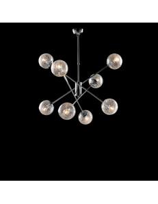 Tresor lampadario soggiorno minimalista cromo e sfere trasparenti