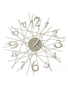 Zig Zag orologio da parete di design Ø70 beige