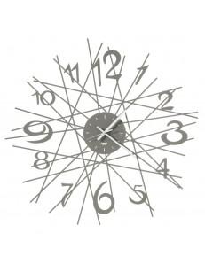Zig Zag orologio da parete di design Ø70 fango