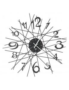 Zig Zag orologio da parete di design Ø70 nero