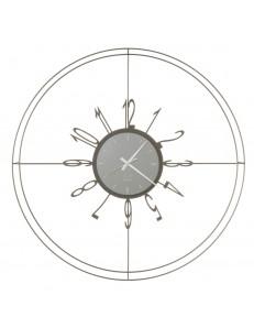 Voyager orologio da parete con linee sottili Ø70 bronzo