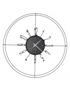 Voyager orologio da parete con linee sottili Ø70 nero