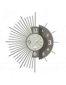 Miro orologio da parete con doppio design Ø59 fango avorio
