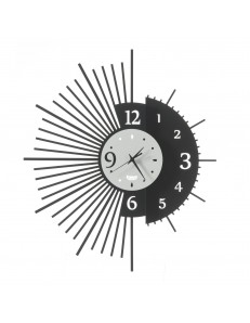 Miro orologio da parete con doppio design Ø59 nero bianco