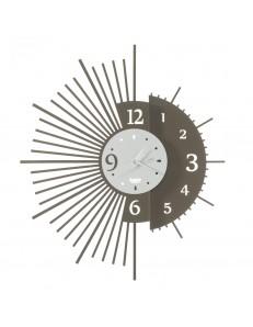 Miro orologio da parete con doppio design Ø59 bronzo bianco
