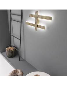 Mikado media plafoniera Led design 90w dimmerabile luce indiretta vari colori